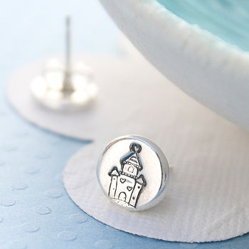 Silver Fairytale Castle Earrings