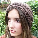 Chunky Hand Knit Headband - Chocolate Brown