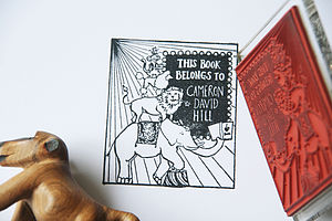 Personalised Circus 'Book Belongs To' Stamp - personalised