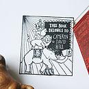 Personalised Circus 'Book Belongs To' Stamp