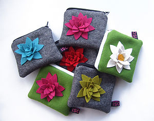 Felt Flower Purse - womens