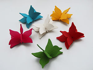 Felt Butterfly Brooch - pins & brooches