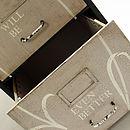 Personalised metal filing cabinet