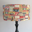 Vintage Baggage Label Lampshade