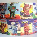 Retro Robots Lampshade