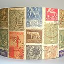 Italian Stamps Lampshade