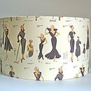 Vintage 1950's Fashion Lampshade