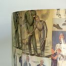 1950's Gentlemen's Fashion Lampshade