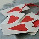 White Metal Heart Tags