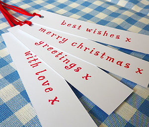 Set Of 24 Long Christmas Tags - cards & wrap