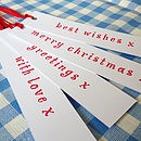 Set Of 24 Long Christmas Tags
