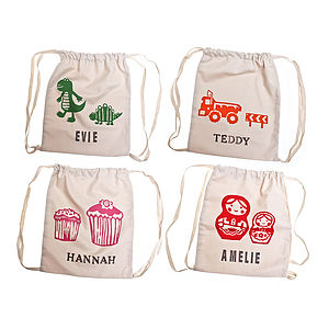 Printed Personalised Children's Kit Bag - storage