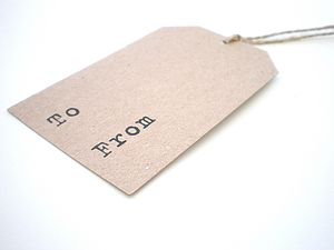 Rustic Gift Tags 'To and From' - shop by category