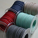 Roll of Skinny Ribbon 20M - Red, Midnight Blue, Dark Grey, Sea Green and Stone