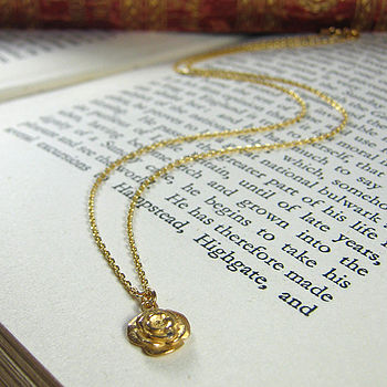 Gold Plated Rose Necklace