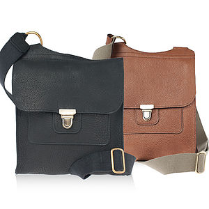 Clifton Leather Messenger Bag