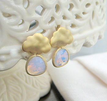 'Summer Raincloud' Earrings
