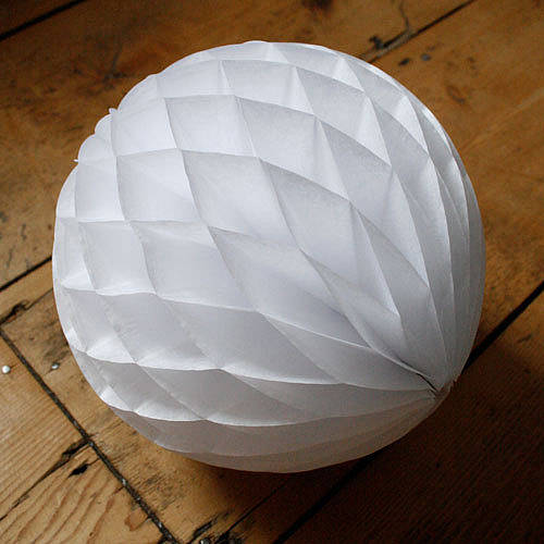 Paper Tissue Fan Christmas Decorations By Pearl And Earl: Paper Luxe Honeycomb Tissue Ball By Pearl And Earl