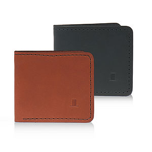 Clifton Leather Bi Fold Wallet - wallets & money clips