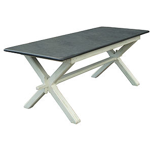 Painted Refectory Style Slate Top Table - dining tables