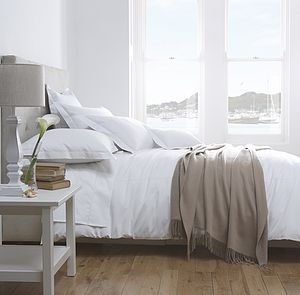 Seville Organic Cotton Sateen Bedding - cot bedding