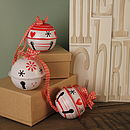 Set Of Three Christmas Tree Baubles