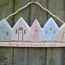 5 chalky beach hut hanging decoration