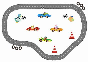 Racing Car Magnetic Play Set