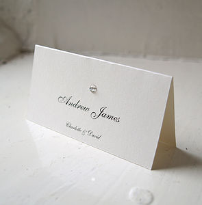Diamante Name Card