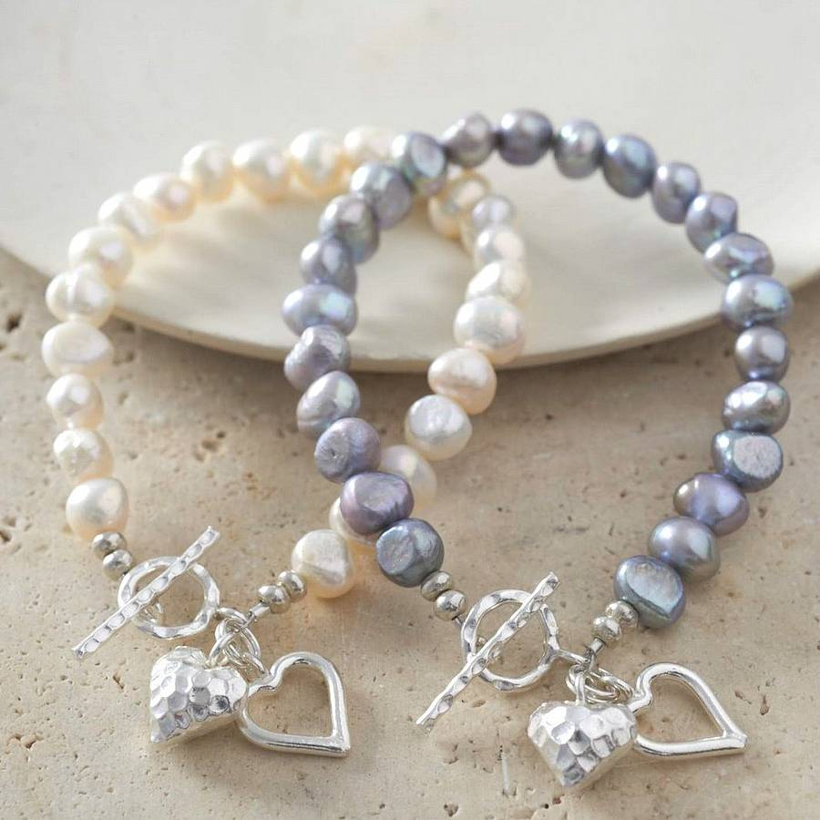 mixed bracelet fresh pearls water light shop