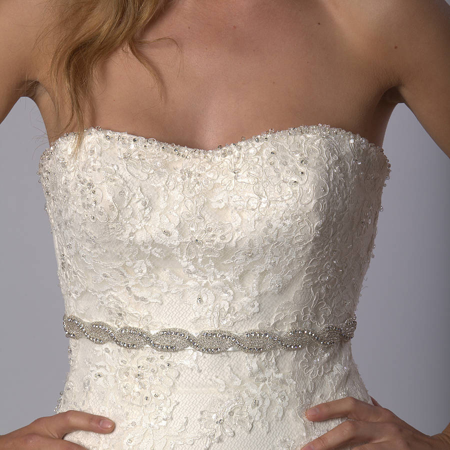 megan wedding dress belt by sash & co. | notonthehighstreet.com