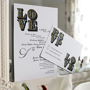 Love Wedding Stationery Range - save the date cards