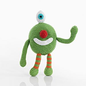 Monster Crochet Rattle Soft Toy - rattles & teethers