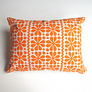 Parade Pattern Screenprint Cushion