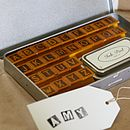 Rubber Alphabet Stamps And Ink Pad Upper Case