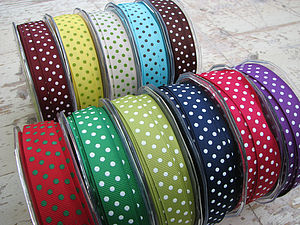 Dotty Spotty Grosgrain Ribbon - shop by category
