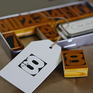 Vintage Rubber Number Stamps And Ink Pad - finishing touches