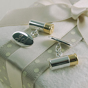 Cartridge Cufflinks - wedding jewellery