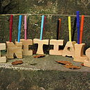 Wooden Letter Pen Holder