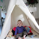 indoor play teepee - inside