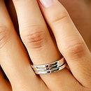 Skinny Silver Gemstone Ring