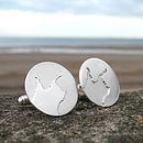 Personalised Coastline Cufflinks