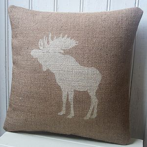 Moose Cushion - bedroom