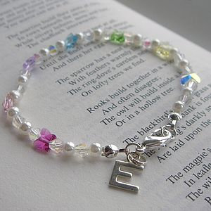 Personalised Rainbow Butterfly Bracelet