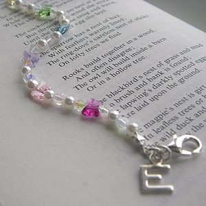 Personalised Rainbow Butterfly Bracelet - wedding thank you gifts