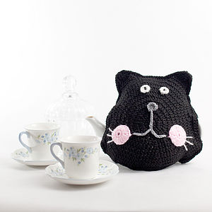 Handmade Crochet Cat Tea Cosy - kitchen