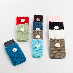 Knitted IPhone And Gadget Case - bags & purses