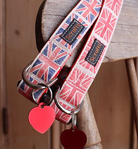 Scrufts By Jingo Dog Collar And Heart Tag - pet collars