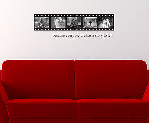 Old Negative Film Strip Wall Sticker - children's room accessories