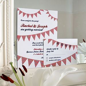 Summer Party Wedding Stationery Range - save the date cards